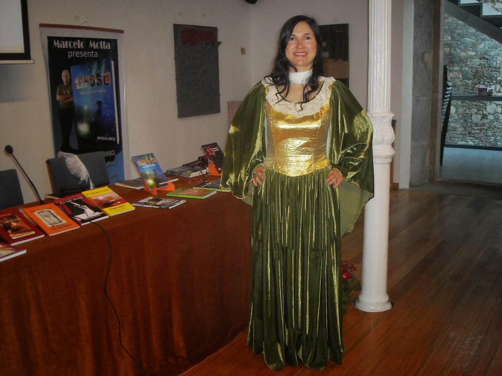Silvia Salgado en el Museo Ramón Aller, Galicia.