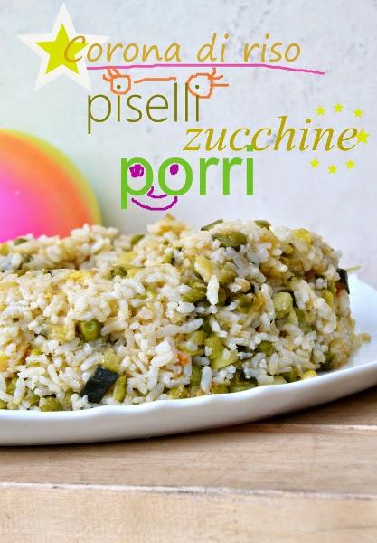 corona di riso con zucchine,piselli e porri