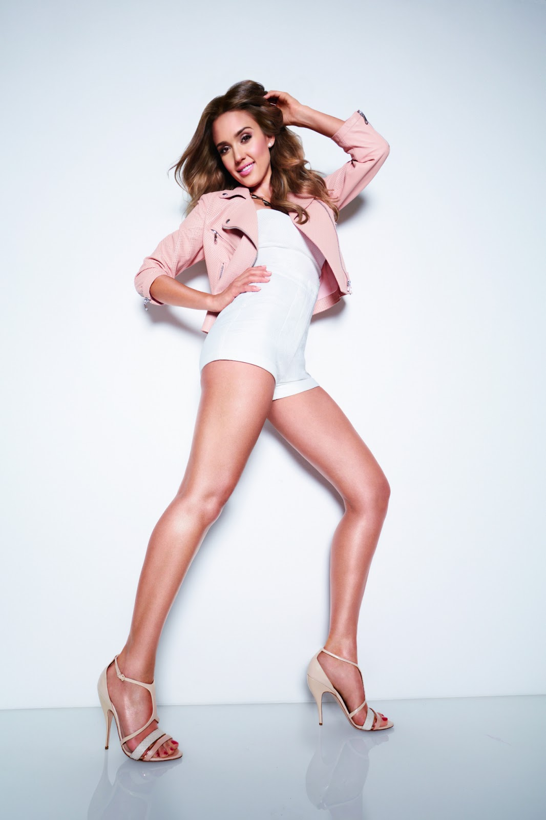 Jessica Alba shows off skin for the Braun Silk-epil 2015 Campaign