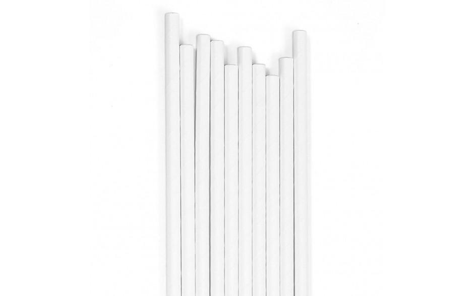 Canudo de Plástico Branco Biodegradáveis
