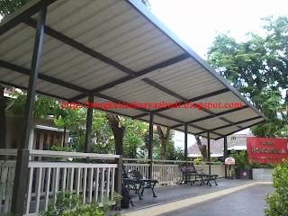 contoh gambar canopy atap spandek