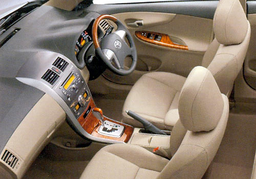 Toyota corolla altis interior car models