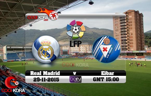 مشاهدة مباراة إيبار وريال مدريد اليوم 29/11/2015 علي قناة بي أن سبورت HD3