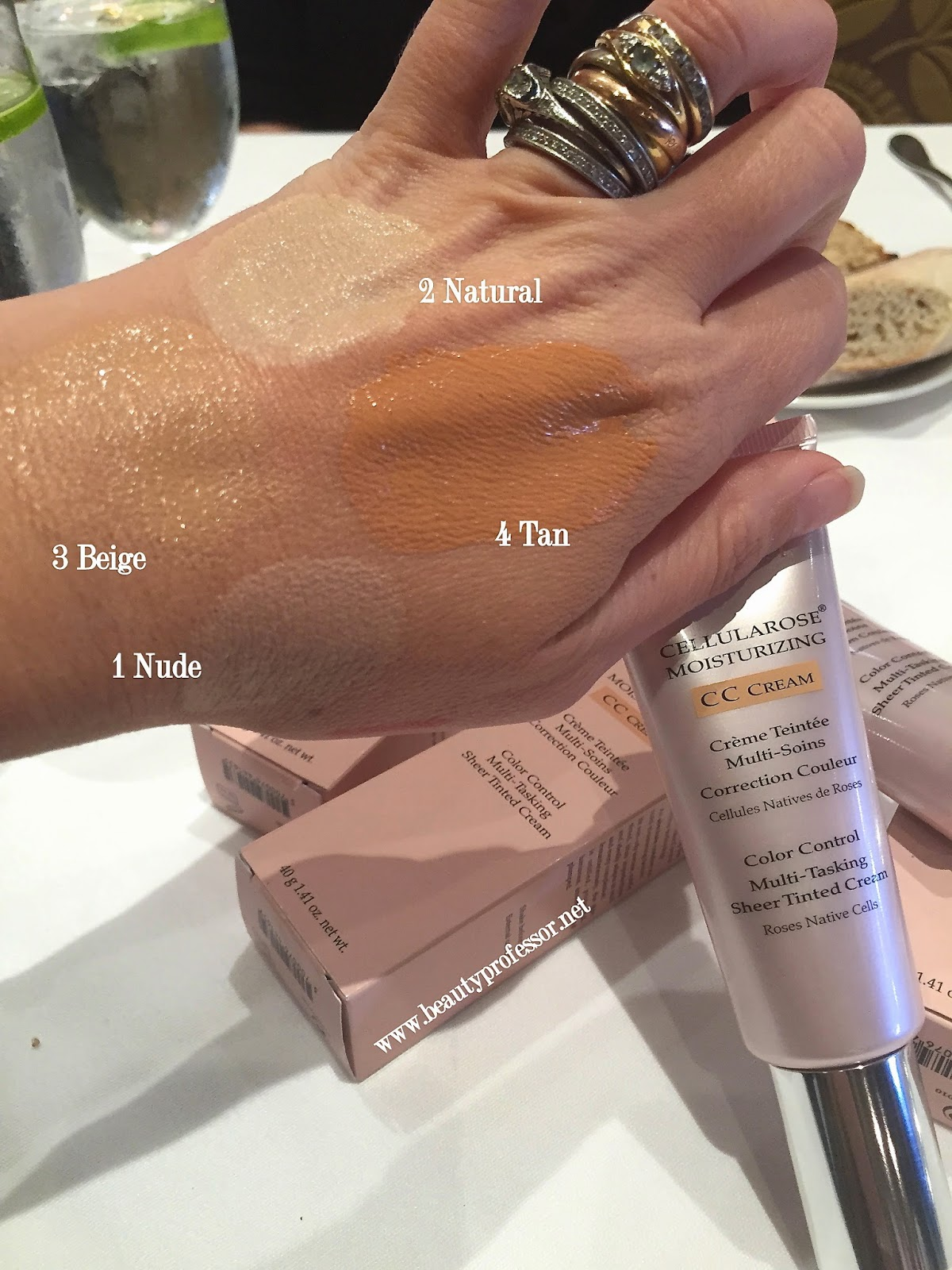 by terry cellularose moisturizing cc cream swatches
