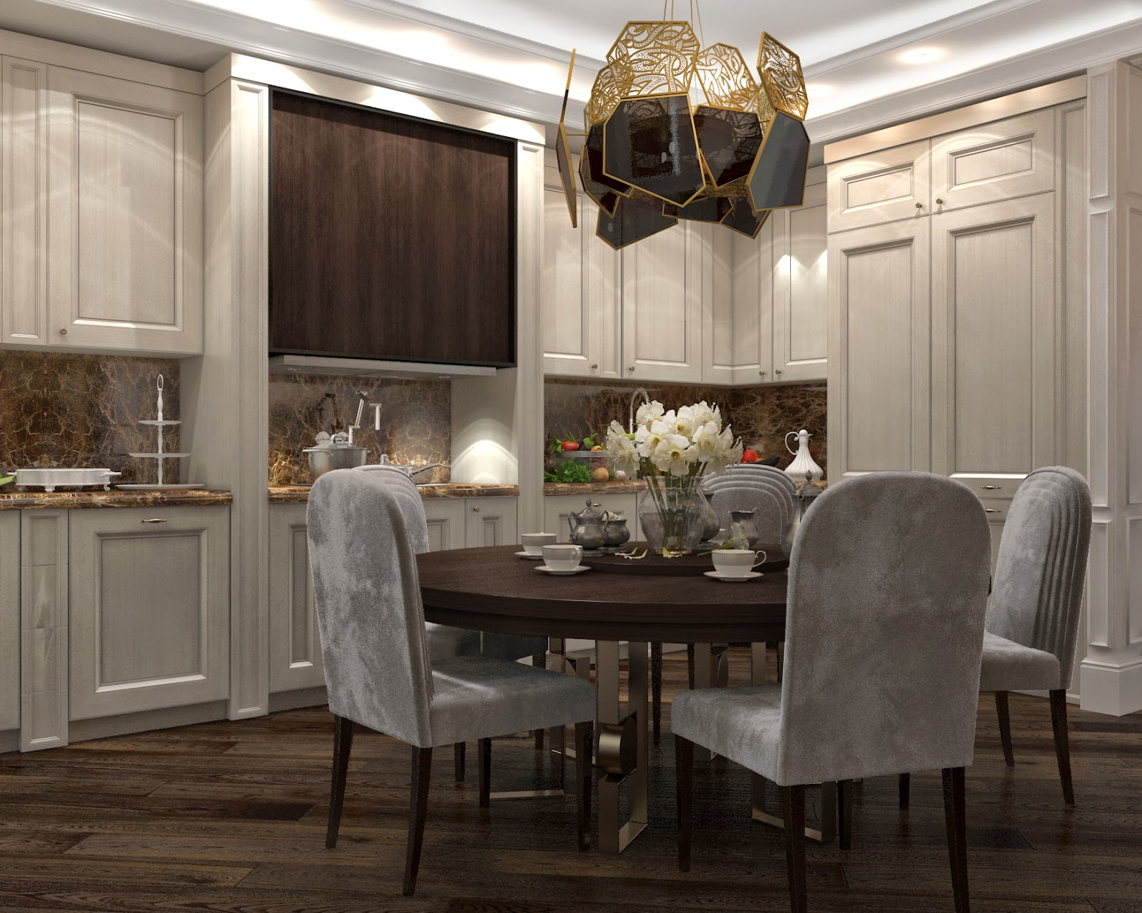 Darya girina interior design march 2015 - Sitting Room And Kitchen