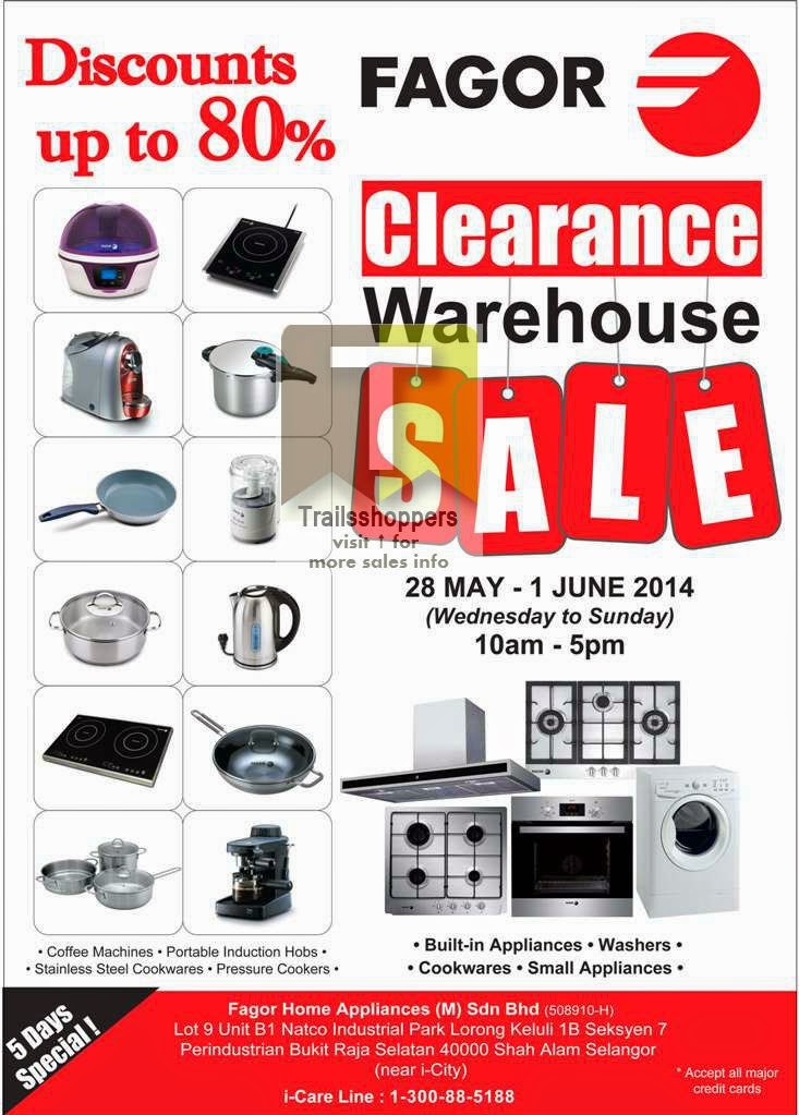FAGOR Malaysia Clearance Warehouse Sale service centre customer service