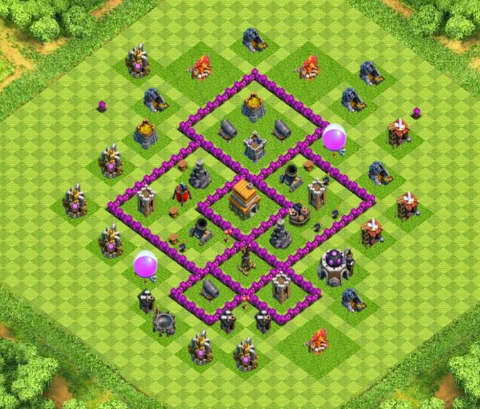 Wall Design For Town Hall 6 : War trophy base town hall designs with air sweeper
