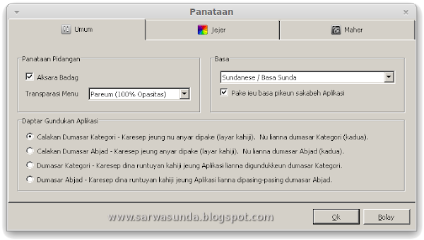 Menu Portable Apps Sunda