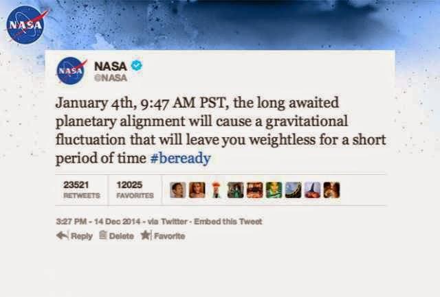 NASA: Planetary Alignment On January 4 2014 Will Decrease Gravity