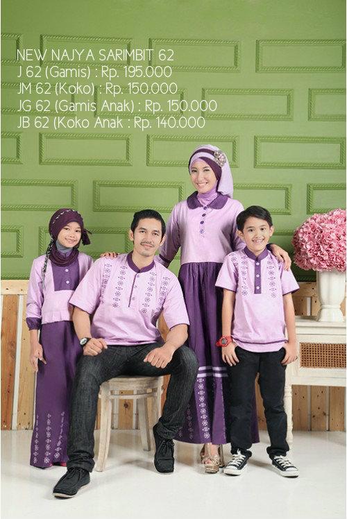 Busana Muslim Couple Keluarga Ayah Ibu Dan Anak Baju