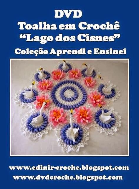 aprender croche em dvd toalha em croche lago dos cisnes no curso de croche loja online frete gratis