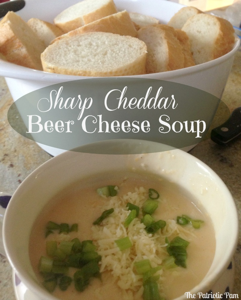 The Patriotic Pam...: Sharp Cheddar Beer Cheese Soup