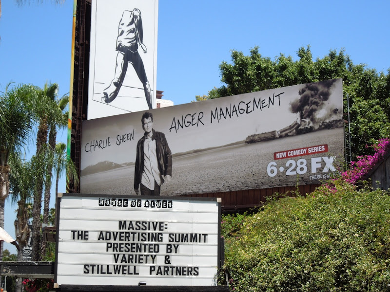 Charlie Sheen Anger Management billboard