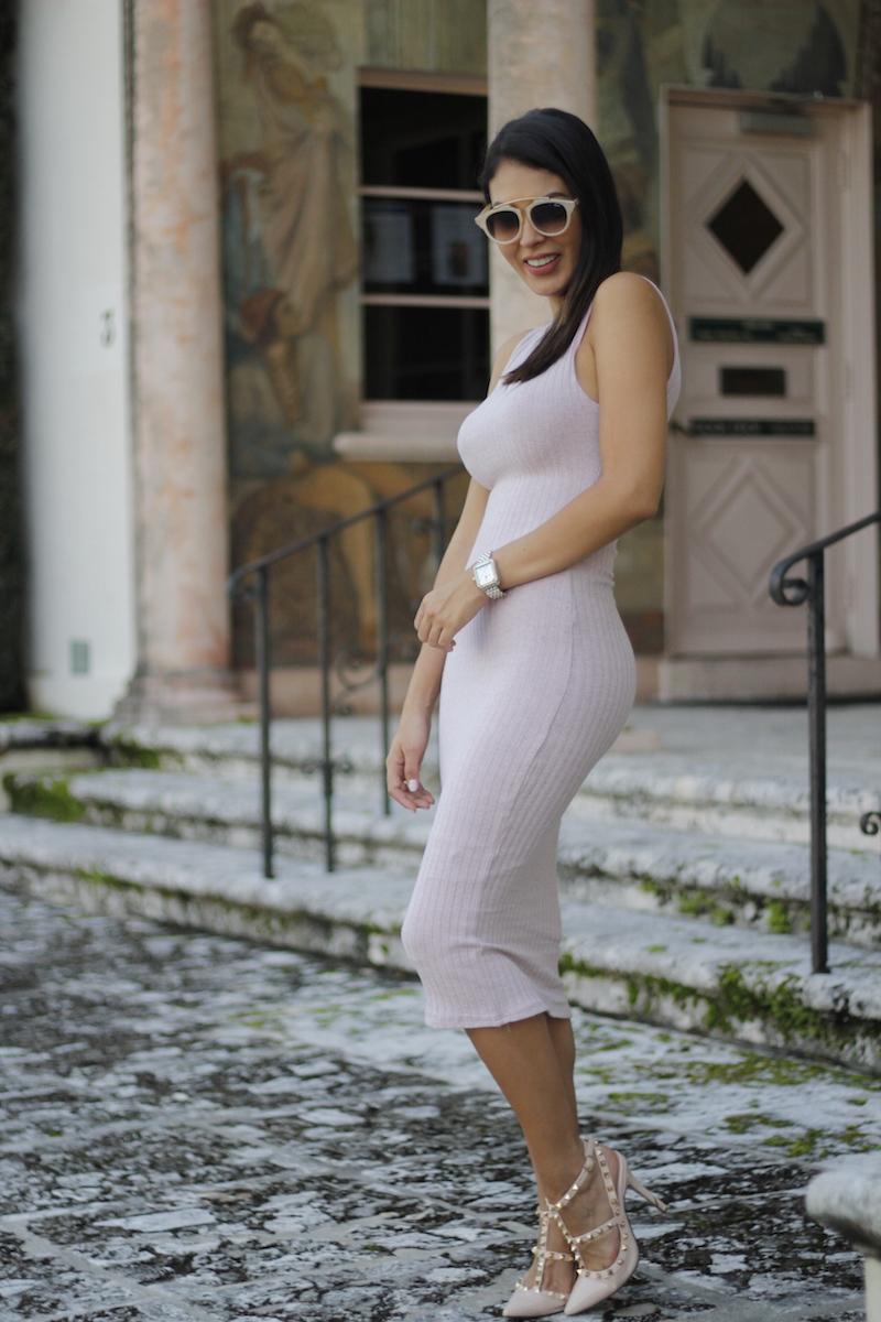 the chiffon diary midi pink dress