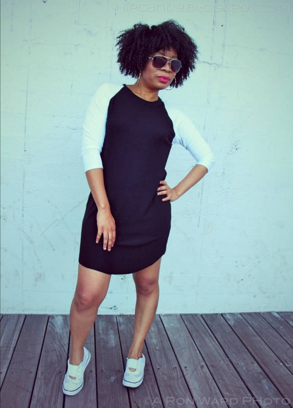 sewing black and white raglan mini dress diystyle