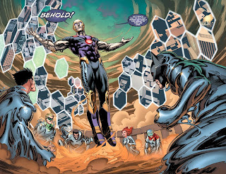 Behold Telos yapping to the surviving superheroes of Earth 2