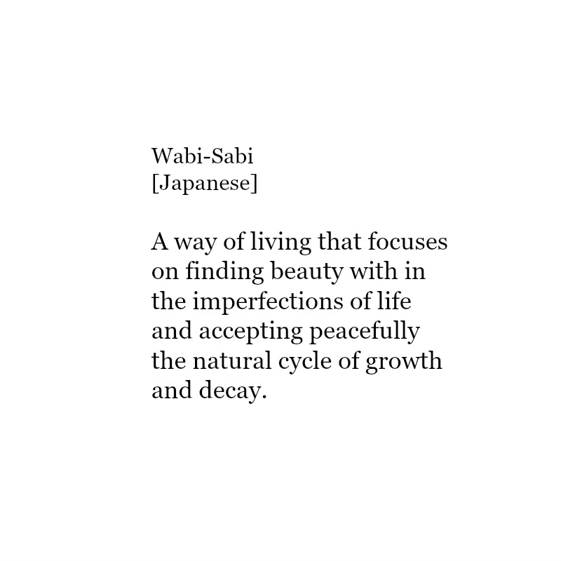japanilainen termi wabi sabi