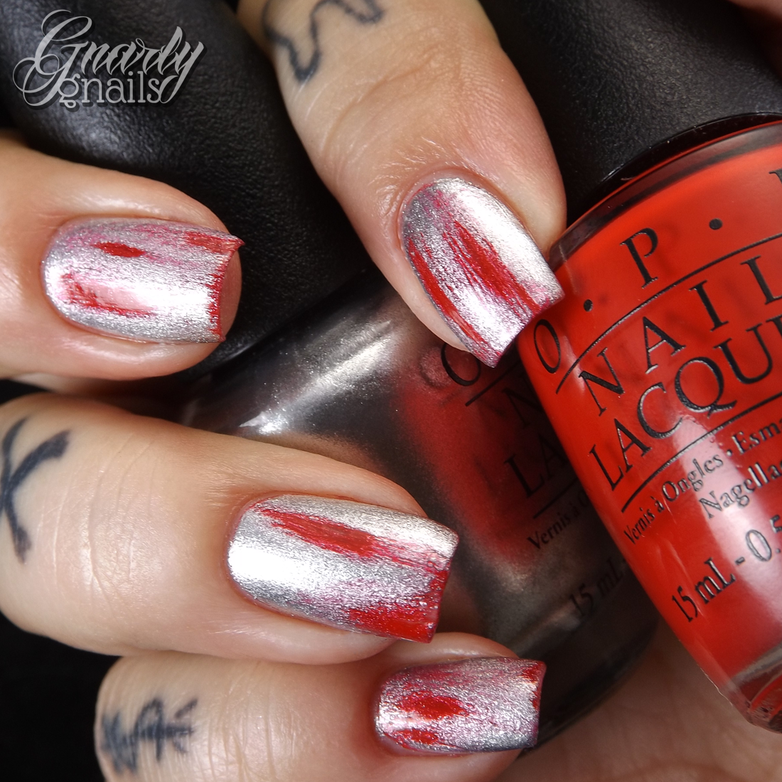 Opicoke super simple nail art gnarly gnails the other day i showed you the latest opi collection which is their collaboration with coca cola today i have for you a very simple nail art look i created prinsesfo Gallery