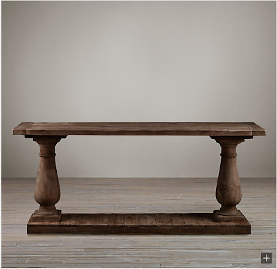 hardware balustrade salvaged wood console table decor look alikes