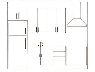 Desenhos Para Colori Cozinha Completa desenhar