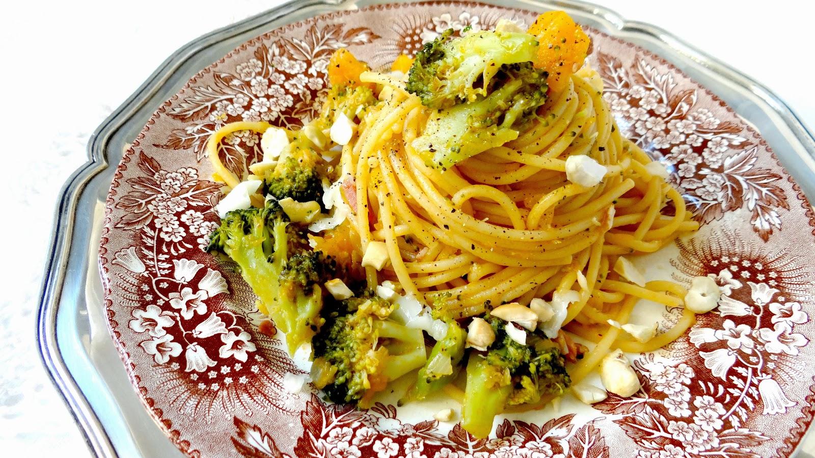 Mutti, pranzo, Matrimonio in Cucina, zucca, pomodoro, datterini, broccoli