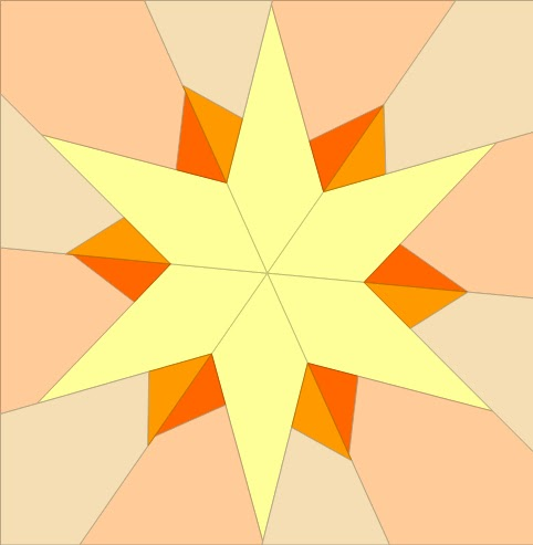 Scrapbook Quilting: The Diamond Double Star