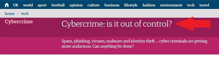 Зараженная статья в The Guardian