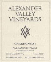 Alexander Valley Vineyards Chardonnay bottle