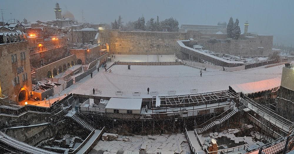Neve Shalom Israel  City pictures : SHALOM ISRAEL: JERUSALÉM COBERTA DE NEVE!