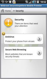 Download Security & Antivirus Premier v3.1.0.4547 Android Application screenshot1