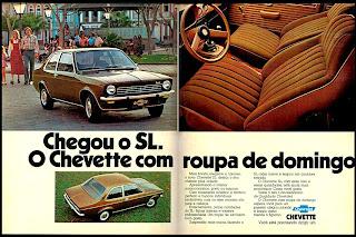 propaganda Chevette SL - 1975. brazilian advertising cars in the 70. os anos 70. história da década de 70; Brazil in the 70s; propaganda carros anos 70; Oswaldo Hernandez;