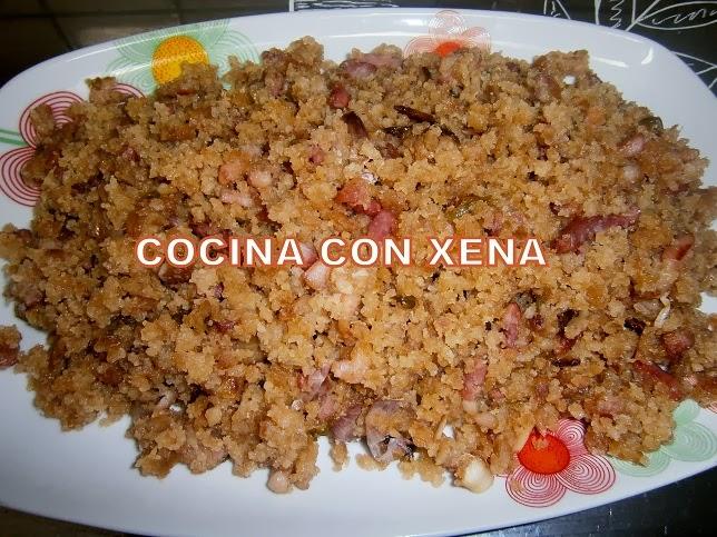 Cocina con xena migas de pan con bacon en gm d for Cocina con xena olla gm d