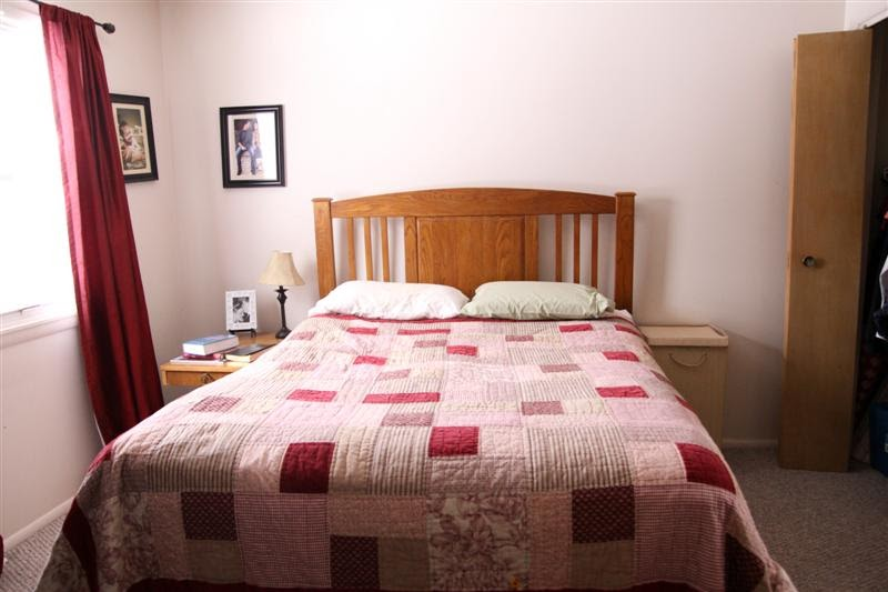 a craft a day bedroom redo before