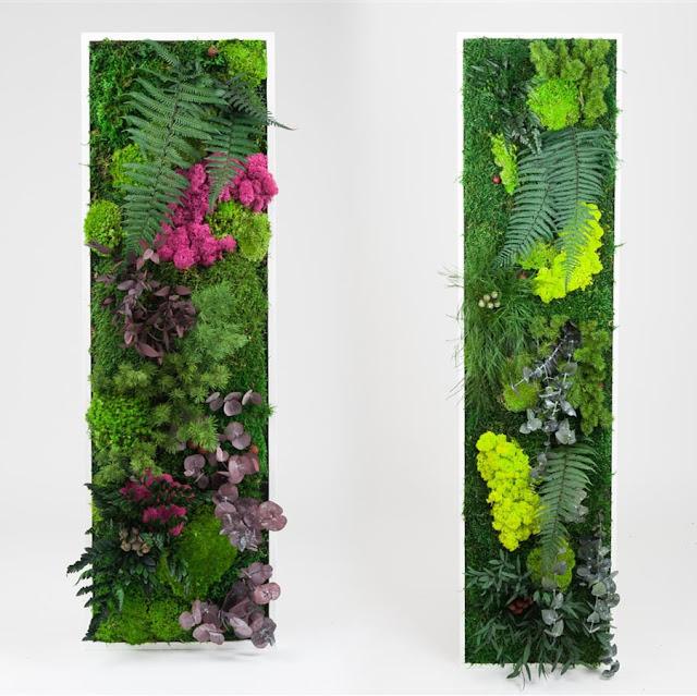 La fabrique d co tableaux v g taux un jardin d for Cadre mural plantes