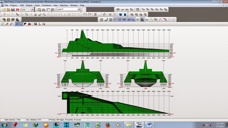 Desain Kapal Hydrotech Klewang