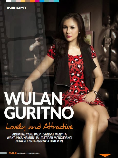 Foto Artis Wulan Guritno di Male Magazine Terbaru Oktober 2013