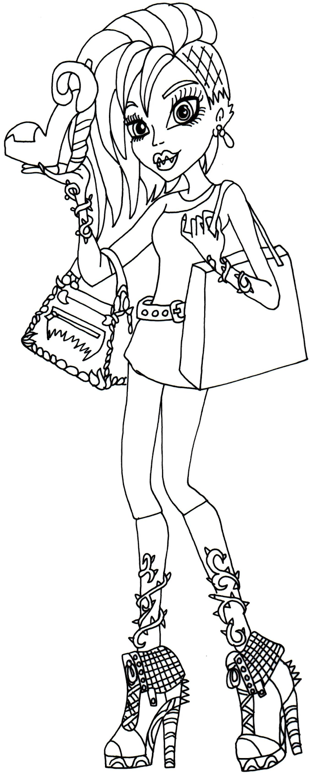 Free Printable Monster High Coloring Page For Venus McFlytrap In Her I Love Fashion Outfit
