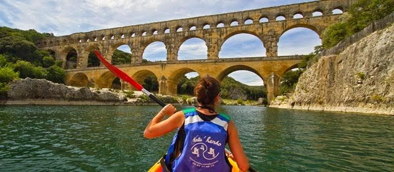 Natu'Rando -Canoe-vélo au Pont du Gard- Gardon
