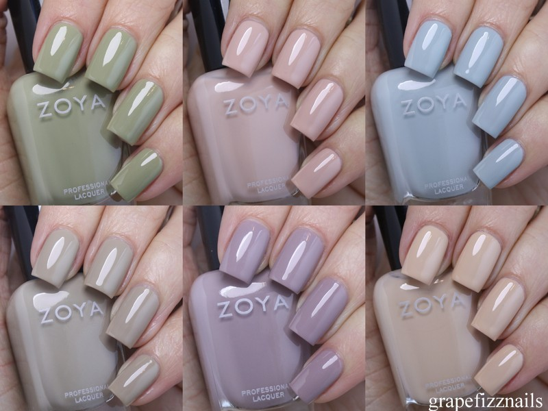 Grape Fizz Nails: New Zoya Whispers 2016 Swatches and Review