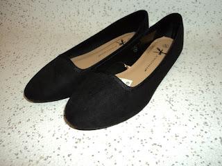 Black Faux Suede Slipper