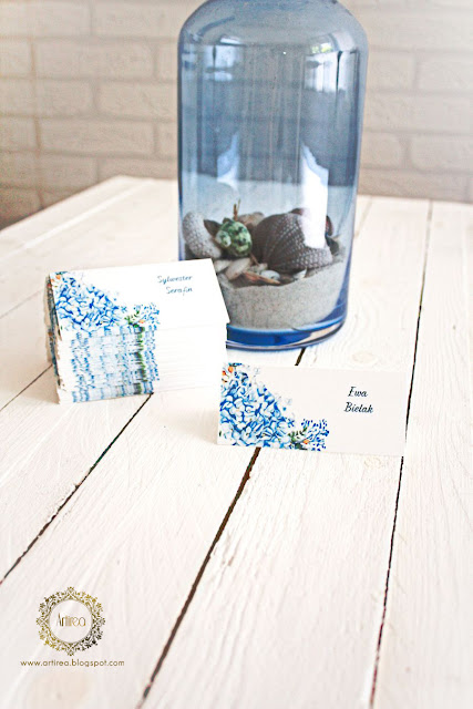 niebieskie winietki wesele artirea