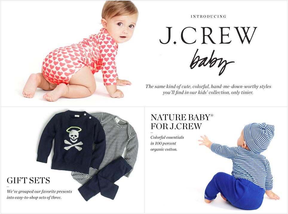J Crew Aficionada J Crew Baby Collection