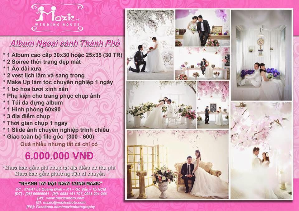 gói chụp ảnh cưới đẹp tại Sài Gòn