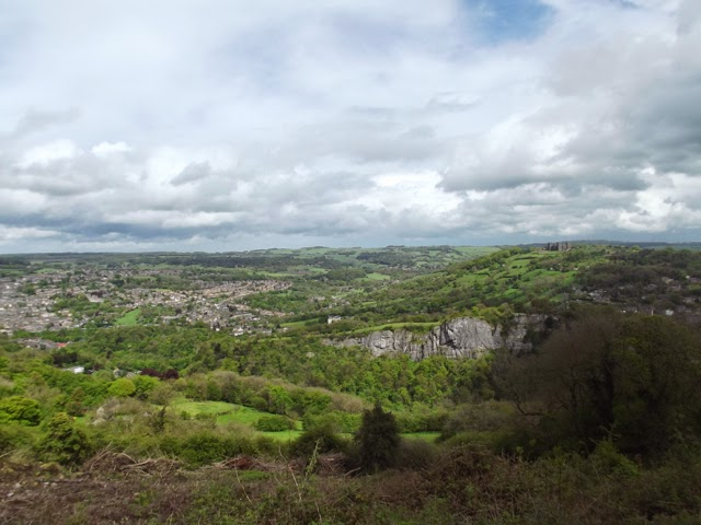 View to Matlock and Lovers' Leap from Heights of Abraham
