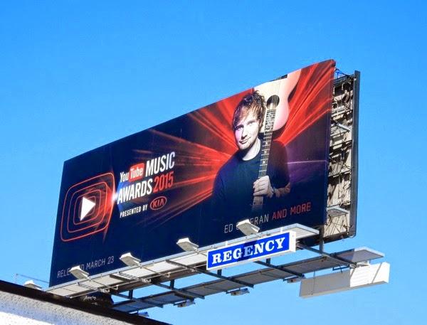 Ed Sheeran YouTube Music Awards 2015 billboard