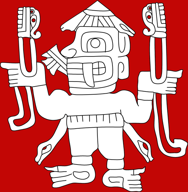 chavin figures, Chavin culture, indian culture, pre-columbian culture, textiles, god figure, staff god, fantastic creatures, Andean God, Gods in latin America, God figures, fantastic creatures, mythical creatures,