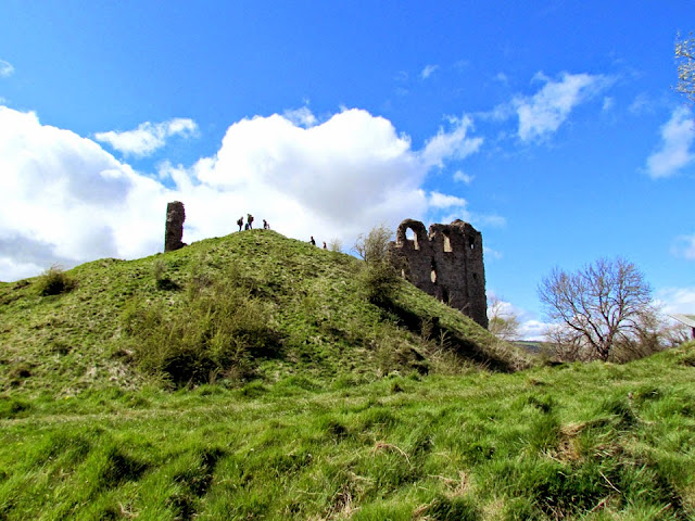 Climbing up to a castle ruin