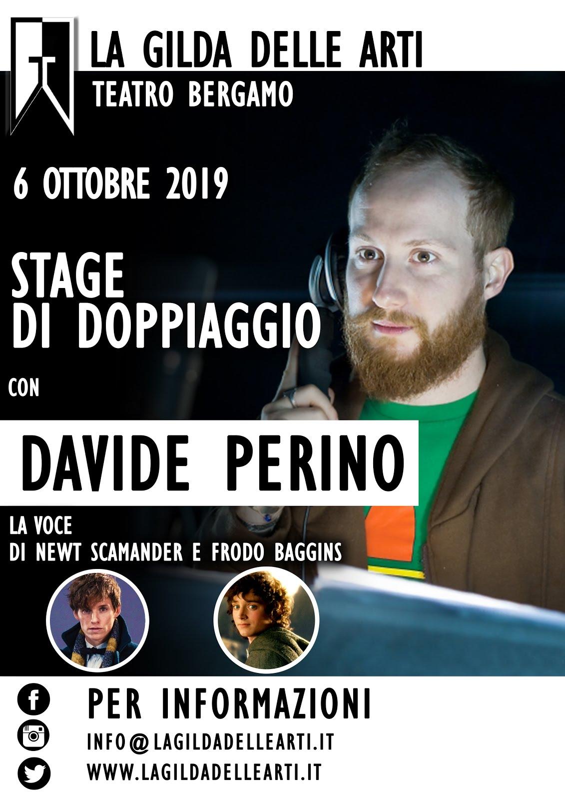 STAGE DI DOPPIAGGIO CON DAVIDE PERINO