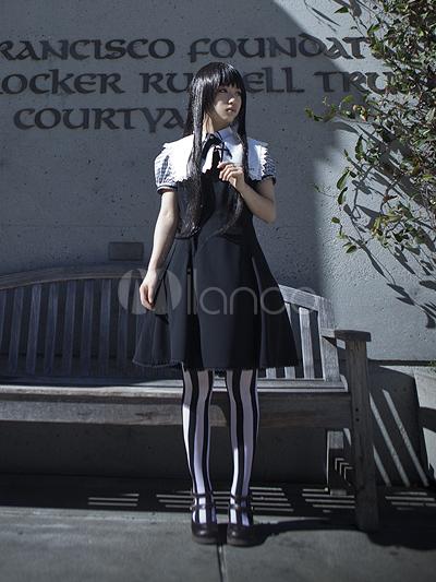 Classic Black Embroidery Lolita Jumper Skirt