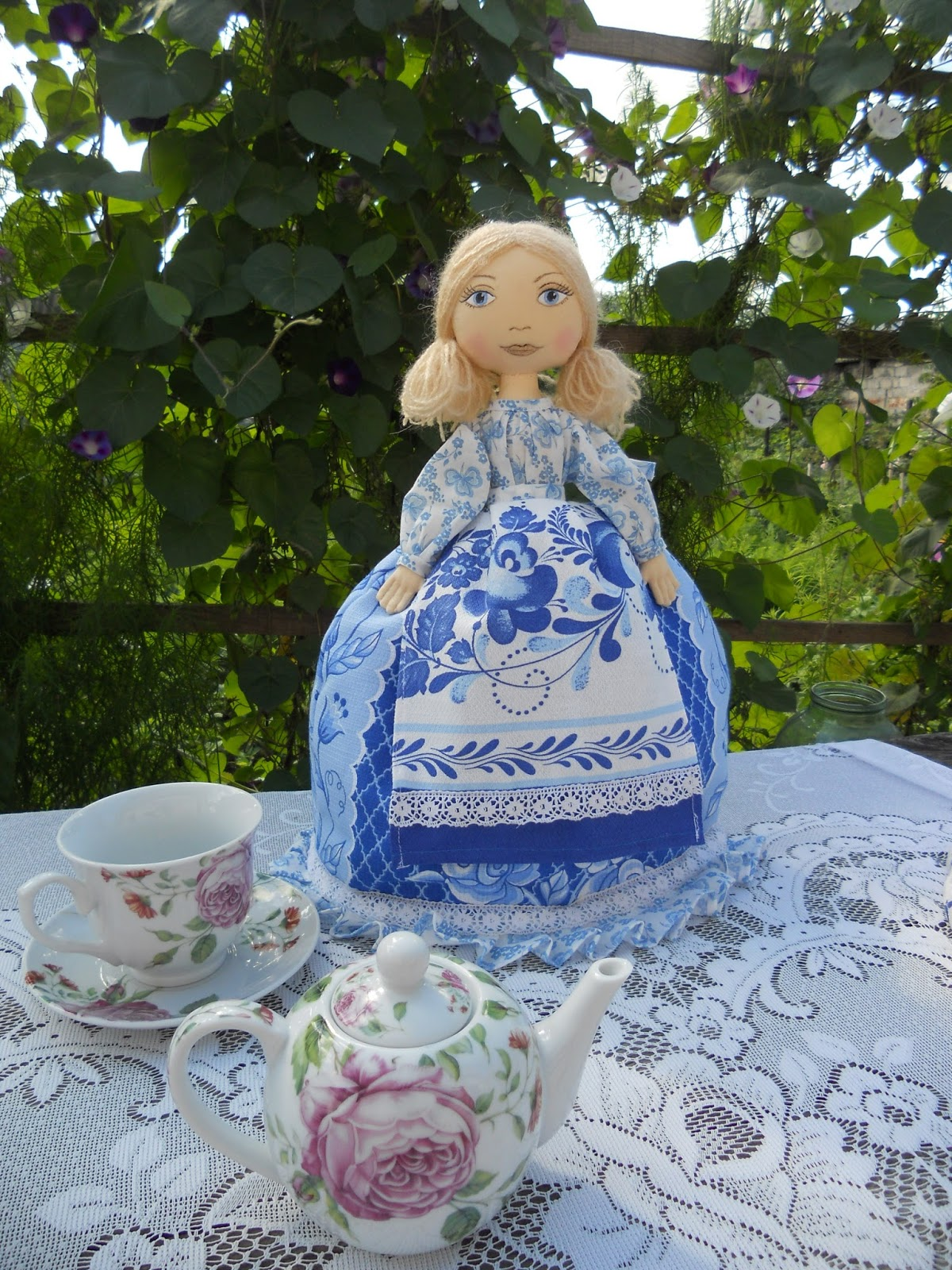 Как сшить куклу на чайник